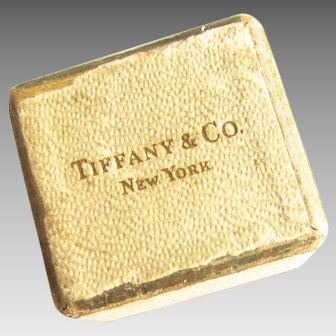 Victorian or Edwardian Tiffany & Co New York Ring Box