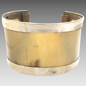 Vintage Silver Horn Cuff Bracelet Unisex