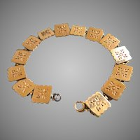 Victorian Gold Filled Book Chain Bracelet