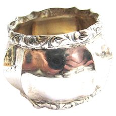 830 Silver Fluted Fancy Napkin Ring