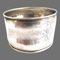 Rare Victorian Bon Appetit Silver Napkin Ring