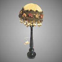 French Silk Beaded Dollhouse Floor Lamp