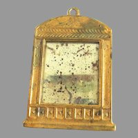 Gilt Metal Ormolu Dollhouse Mirror