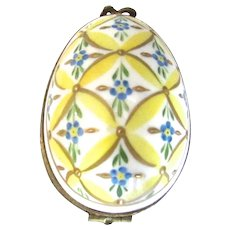 Vintage Limoges Porcelain Easter Egg Trinket Box