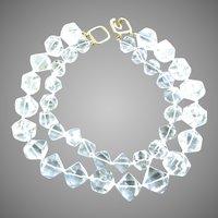 Vintage Kenneth Lane Rock Crystal Double Strand Necklace