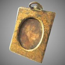 Antique Bronze Picture Photo Frame Miniature for Portrait