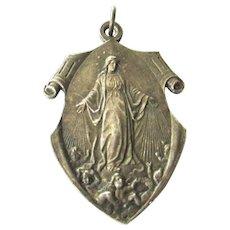 Beautiful Silver Art Nouveau Miraculous Medal