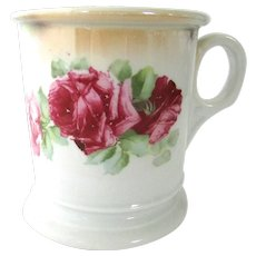 Antique Ironstone Floral Mug Roses