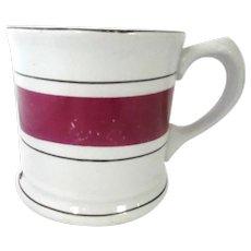Burslem English Ironstone Banded Shaving Mug