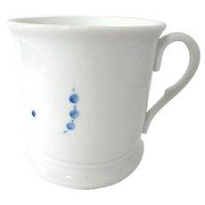 Antique Ironstone Porcelain Coffee Mug Blue Dots