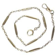 14K White Gold Rosenfeld Art Deco Pocket Watch Chain