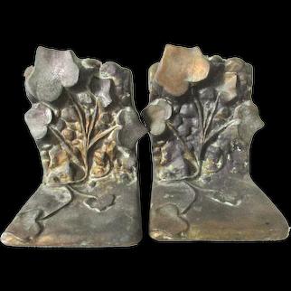 McClelland Barclay Bronze Bookends Ivy Art Nouveau