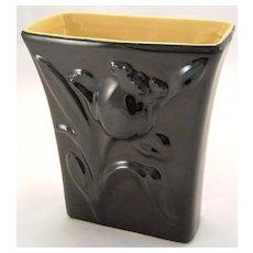 Abingdon Art Deco 'Jonquil' Vase Black & Yellow