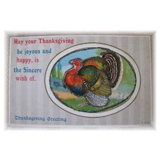 Nice Thanksgiving Greeting Postcard