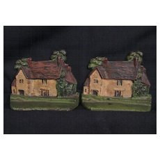 Great Iron Painted Cottage Bookends