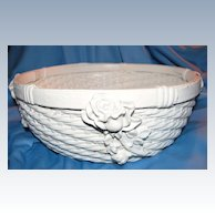 Pretty Barbola Gesso Basket with Roses