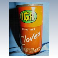 Wonderful IGA Cloves Tin