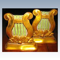 Beautiful Lyre Bookends