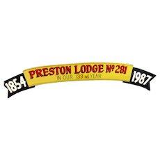 Vintage Mason Lodge Sign