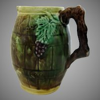 Majolica Creamer Grapes And Leafs
