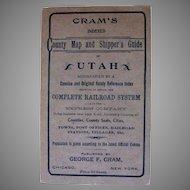 Cram's Utah County Map and Shipper's Guide C.1900