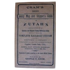 Cram's Utah County Map and Shipper's Guide C.1900