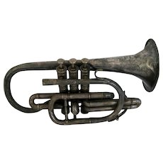 Besson Silver Plate Prototype Trumpet Or Coronet