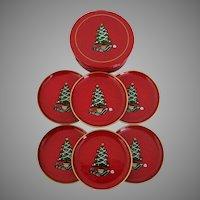 Christmas Tree Lacquer Ware Coaster Set