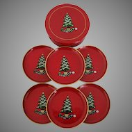 Christmas Tree Lacquer Ware Coaster Set