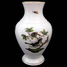 Herend Vase Rothschild Bird