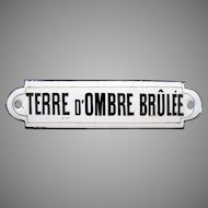 French Porcelain Sign