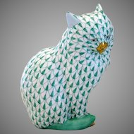 Herend Porcelain Large Fishnet Cat