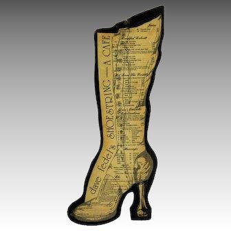 Victorian Shoe Shaped Menu