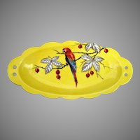 R.S. Germany Oval Dish With Parrot