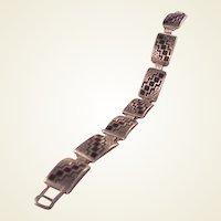 Navajo Sterling Teme Link Bracelet/onyx