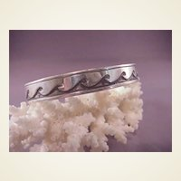 Nice Sterling Cuff Bracelet/Wave design