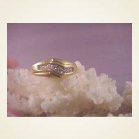 Nice Vintage 14k Diamond Man's Ring/ size 10