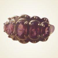 Pretty 10k Rhodolite Garnet Ring/size 6