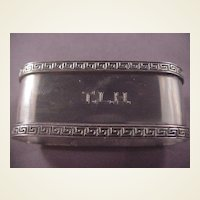 Vintage Sterling Napkin Ring/Greek Key/TLH