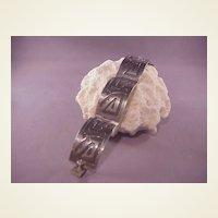 Vintage Mexican Sterling/Enamel Bracelet/signed