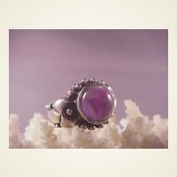Estate Sterling/Amethyst Ring/size 6