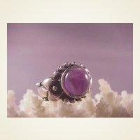 Estate Sterling/Amethyst Ring/size 6