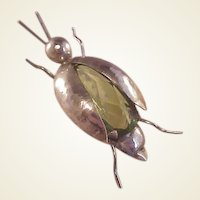 Vintage Sterling Funky Bug Pin