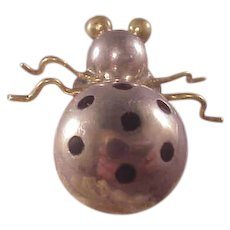 Cool Vintage Mexican Sterling Bug Pin