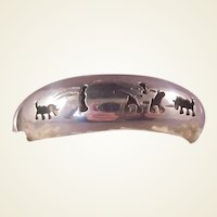 Mexican Sterling Bangle/Animal Cutouts