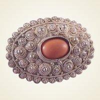 Vintage Sterling/Coral Pin/Pendant
