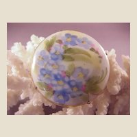 Pretty Vintage Painted Porcelain Pin