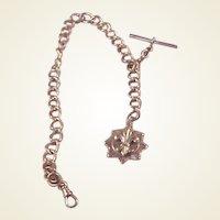 Vintage GF Watch Chain/Fob/Fleur Di Lis