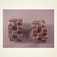 Vintage Copper Renoir Earrings/Clips