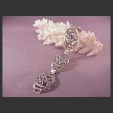 Vintage sterling Danecraft Bracelet/Flowers